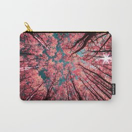 Glance Upward Vibrant Living Coral Trees Teal Sky Carry-All Pouch