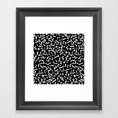 Retro Themed Repeated Pattern Design Framed Art Print