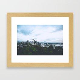 Seattle afternoon views Framed Art Print