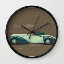 1935 Delahaye Cabriolet Racing Prototype Vintage Poster by Henri Chapron Wall Clock
