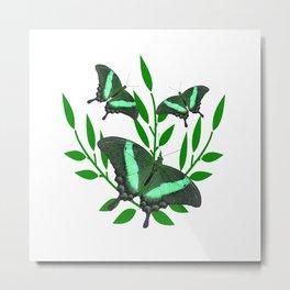 Emerald Swallowtail Butterflies Metal Print