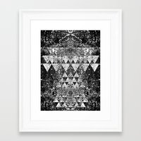 triangles Framed Art Prints featuring TRIANGLES. by Council for design.