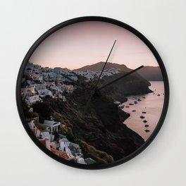 Sunrise in Santorini Wall Clock