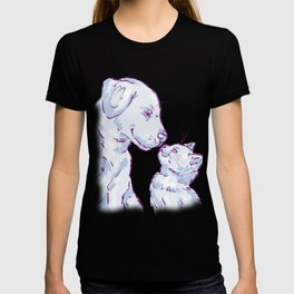 Love cat and dog T-shirt