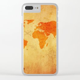 map of the world Clear iPhone Case