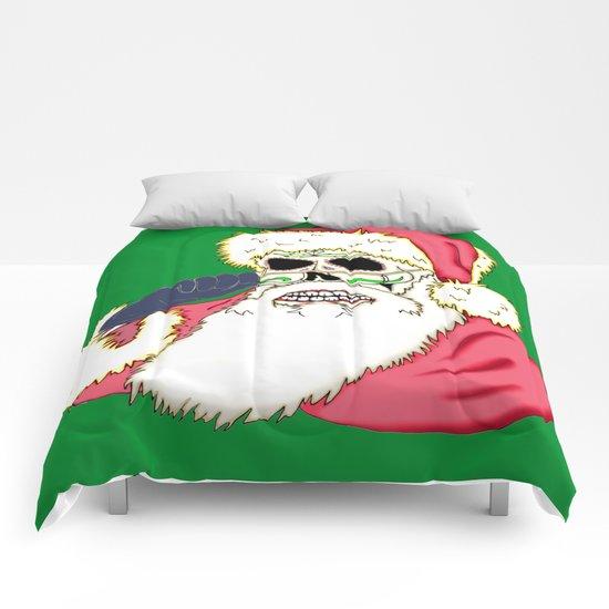 Bad Santa Sugar Skull Comforters