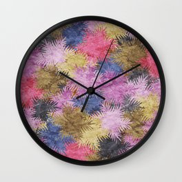 Tropical Fan Palm Paradise – Colorful #06 Wall Clock