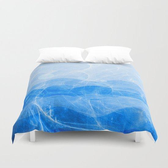 Energy Waves - Blue Version Duvet Cover