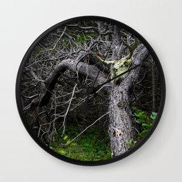Forest Spirit Skull Wall Clock