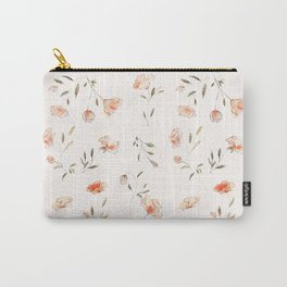 Watercolor Floral Pattern Carry-All Pouch