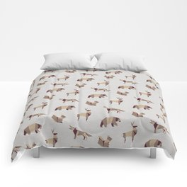 Folded Forest - Geometric Origami Animals Pattern Comforters