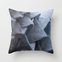 origami Throw Pillows featuring Origami by Sasha Hocking / Adam Phillips