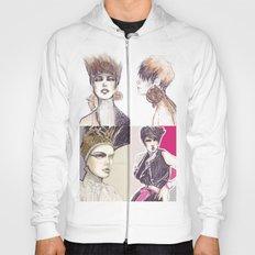 Fashion illustration composition Hoody