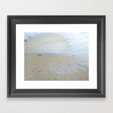 Illusion of Golden Beach Framed Art Print