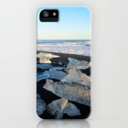 Jokulsarlon Beach III, Iceland iPhone Case