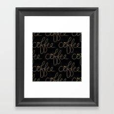 Coffee Dots Framed Art Print