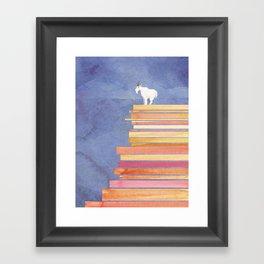 Goat on a Cliff Framed Art Print