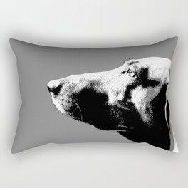 Italian bloodhound b/w Rectangular Pillow