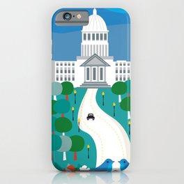 Boise, Idaho - Skyline Illustration by Loose Petals iPhone Case