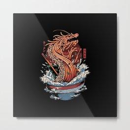 Ramen Dragon Metal Print