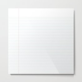 Notepaper Metal Print