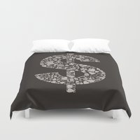 medicine Duvet Covers featuring Medicine dollar by aleksander1