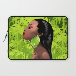Woman African Beauty and Bamboo Laptop Sleeve