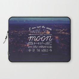 moon quote Laptop Sleeve