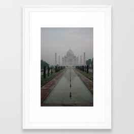 Taj dawn Framed Art Print