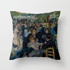 Auguste Renoir - Dance at Le Moulin de la Galette Throw Pillow