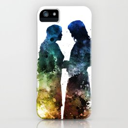 Watercolor Couple iPhone Case