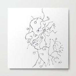 Synapse Face Metal Print