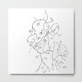 Synapse Face Metal Print