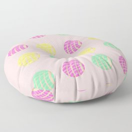 Fun Mexican conchas with pink background  Floor Pillow