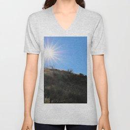 Mountainside for the Sun Unisex V-Neck