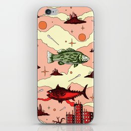 Galaxy swimmers iPhone Skin