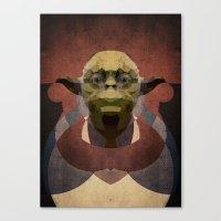 yoda Canvas Prints featuring Yoda by lazylaves