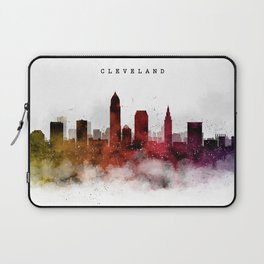 Cleveland Watercolor Skyline Laptop Sleeve