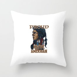 Proud Native American Throw Pillow