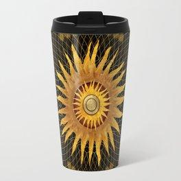 """""""Black & Gold Vault Mandala"""" Travel Mug"""