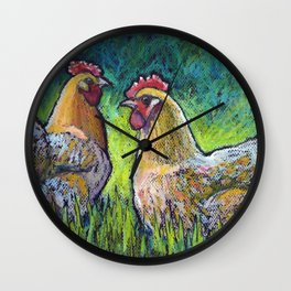 Buff Orpington Morning Wall Clock