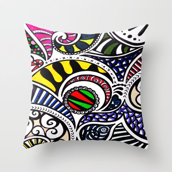 Swirly Gig Throw Pillow