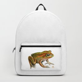 Australian Growling Grass Frog - Original artwork by Ronelle Designs Backpack