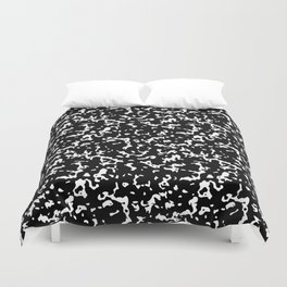 Black and White Composition Notebook Duvet Cover
