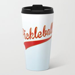 Pickleball Old-School Travel Mug