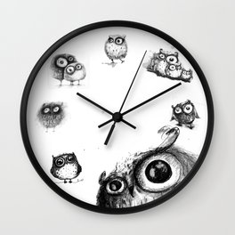 all owls  Wall Clock