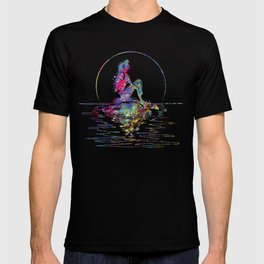 The Little Mermaid Ariel Silhouette Watercolor T-shirt