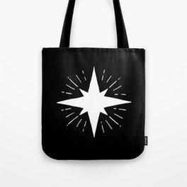 White North Star Shining Tote Bag