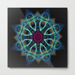Blue Vortex Metal Print