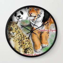 All Animals need love - Asiatic species Wall Clock